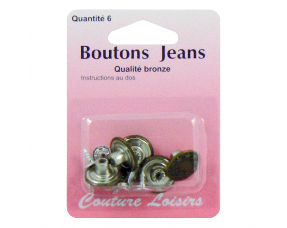 Boutons JEAN'S  bronze 6
