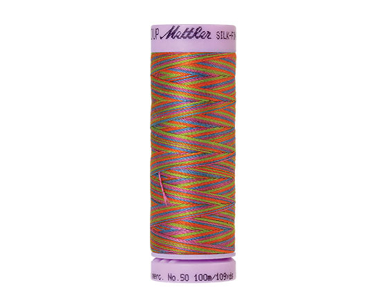 Fil à broder  coton mercerisé SILK-FINISH multicolore 9