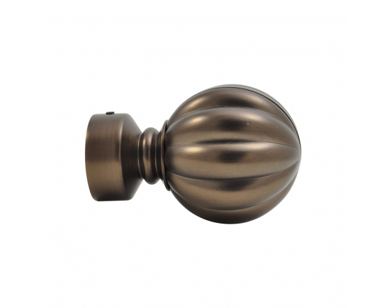 Embout de tringle à rideau boule dauphine antic bronze 28 mm