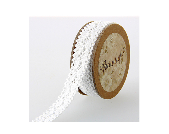 ruban dentelle coton blanc 18 mm - Boutique Celebrate