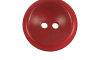 Bouton rouge 2 trous polyester 3