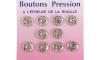 boutons pression  métal rond 11mm nickel