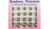 boutons pression métal rond taille assorties nickel