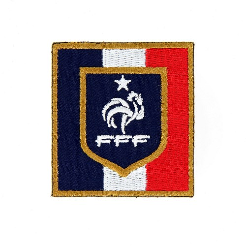 Ecusson officiel équipe de France FFF tricolore